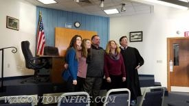 Joe, his family and District Justice Cabry